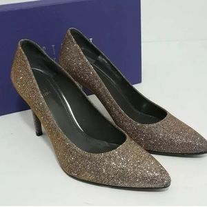 🆕Stuart Weitzman Pointed Toe heel Pump Shiny Gray